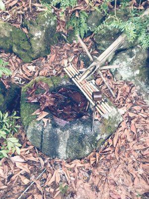岩手県立緑化センターの水琴窟