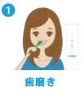 1.歯みがき