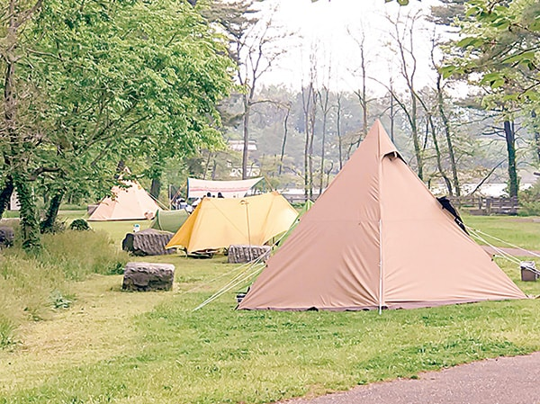 キャンプの季節