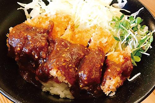 チキン味噌カツ丼